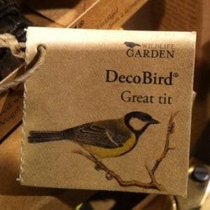 Decobird great tit, fågel