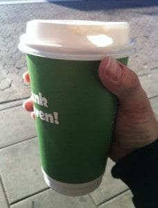 stor kaffe seven eleven, väldigt stor kopp kaffe