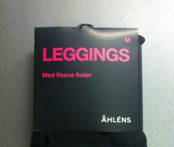Leggings med fleecefoder från Åhléns