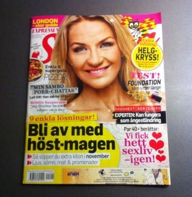Expressen Söndag med Arga Klara och reportage om EDS. Artikeln finns inte på nätet.