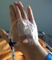 Inkörsport för medicin i handen