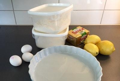 Paj, ingredienser till att baka citronpaj