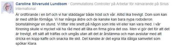 Kommentar Expressen Caroline Silverudd Lundbom