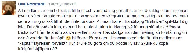Kommentar Expressen Ulla Norstedt