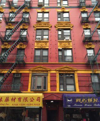 Hus i Chinatown i New York