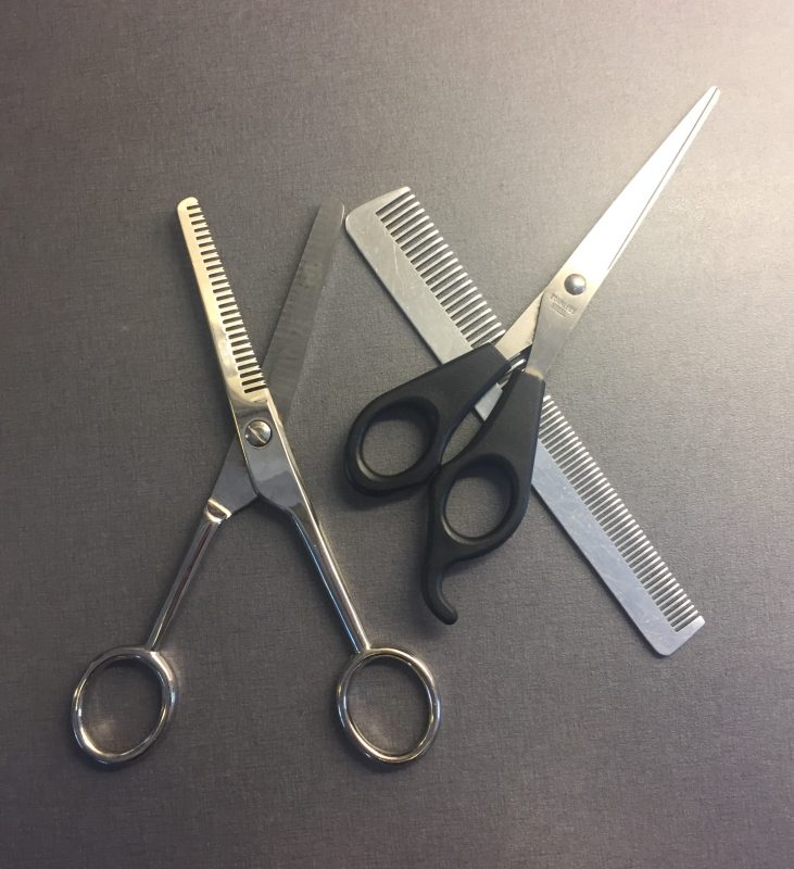 Sax, kam, urtunningssax, klippa håret