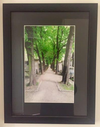 Tavla, fotografi. Från kyrkogården Pére Lachaise i Paris.