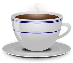 Kaffe. I stort sett menlös på morgonen.