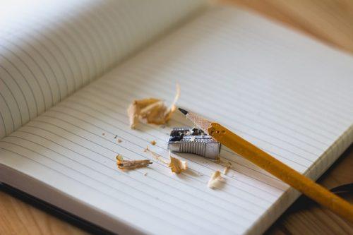 Skriva, penna och pennvässare