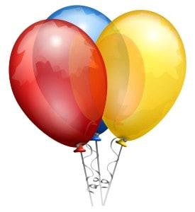 Ballonger. Jag har namnsdag!