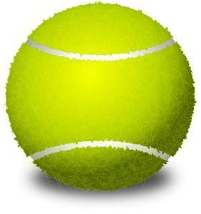 Tennisboll, boll mot nackspärr
