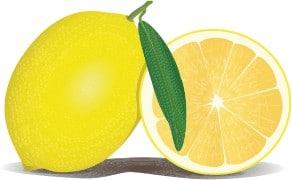 Citron, sur och bitter