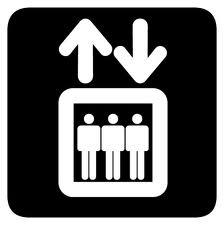 Hiss, tecknad bild på hiss