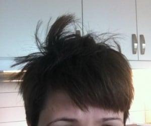 rufsigt hår på morgonen, out of bed head