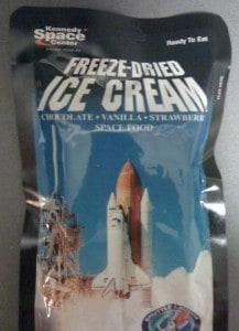 frystorkad glass från Kennedy space center