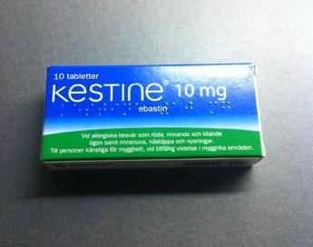 Kestine 10 mg. Ögonen rinner!
