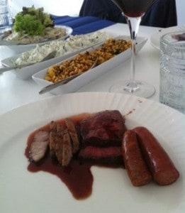 Åt grillbuffé på restaurang Svärdsklova. Inte alls imponerad, tyvärr.
