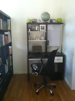 Mitt lilla kontor i hörnet hemma