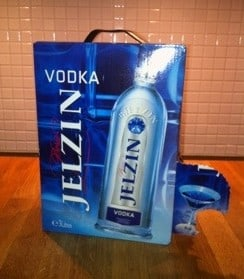 Boris Jelzin vodka i bag-in-box, 3 liter