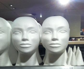 Huvud i frigolit från Panduro hobby
