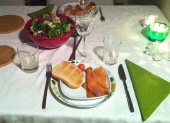 Middag hos syrran