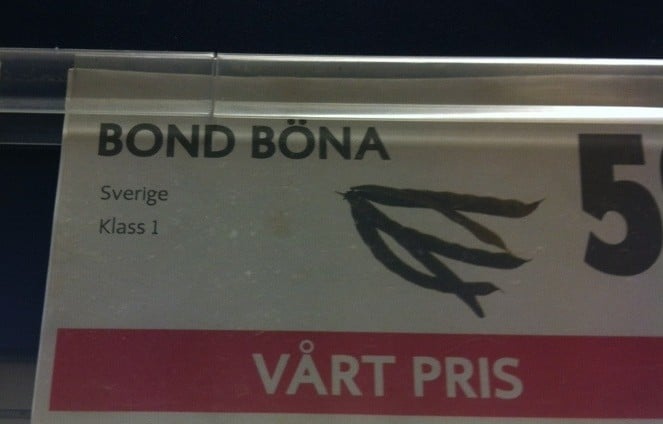 Bondbönor. Eller, My name is Bond. Bond Böna.