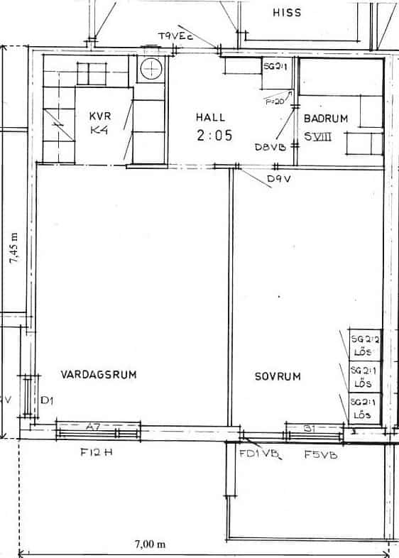 Planritningen över min första lägenhet