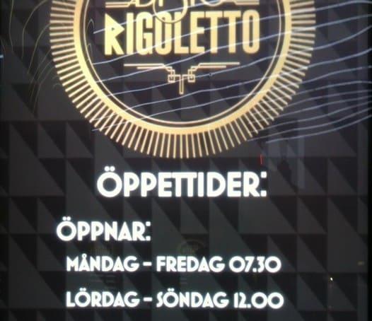 Rigoletto Kungsgatan öppettider