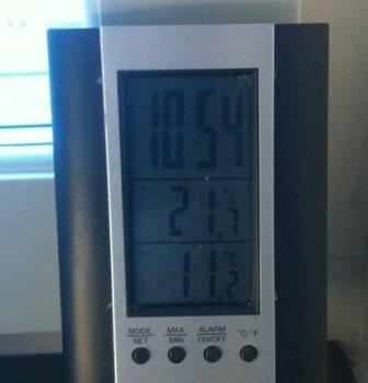 Varmt i december! Min digitala termometer visar på 11 grader.