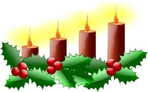 Advent, julpynt, ljusstake, julpynt. Ner med pyntet.