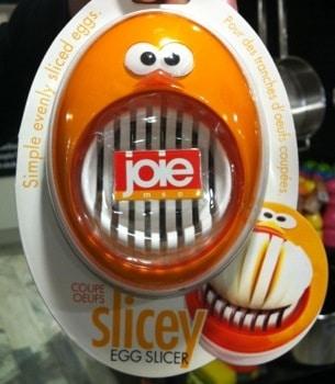 Rolig orange äggskivare, eller heter det äggskärare?