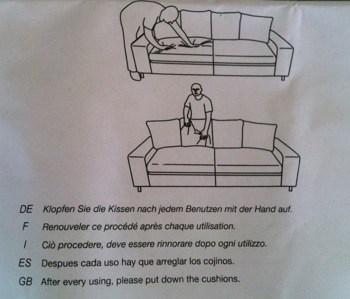 Roliga instruktioner med soffa från Mio.