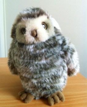 Sjukhuspresent: Ett gosedjur i form av en liten uggla från WWF.