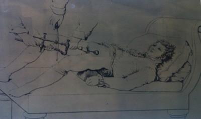 Teckning från Medicinhistoriska museet