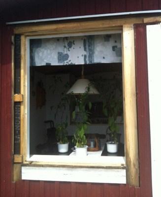 Renovera fönster på lantstället