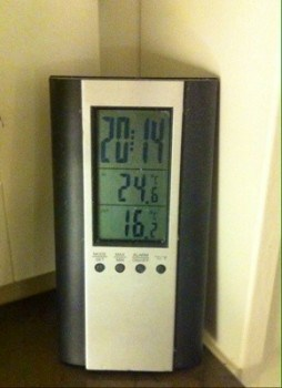 Termometer. Höstvädret är härligt!