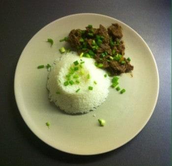 Biff Rendang med ris