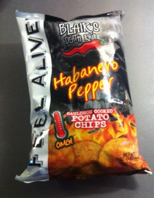 Habanero pepper starka chips. Present-shopping!
