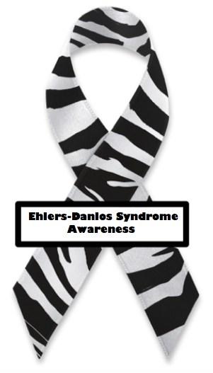 Ehlers Danlos Syndrom band, stöd de med EDS. EDS Ribbon. Överkörd av Försäkringskassan.