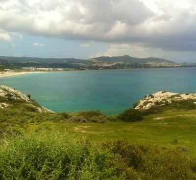 Utsikt från berget på Rhodos