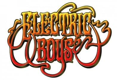 Electric Boys logo. De spelar på efterfesten efter Aerosmith spelar på Tele2 arena.