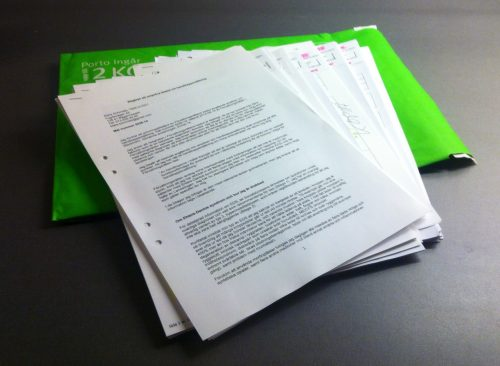 Papper, ansökan, intyg, överklagande