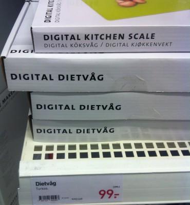 Dietvåg, digital köksvåg