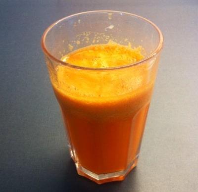 Favorit till frukost, nypressad juice