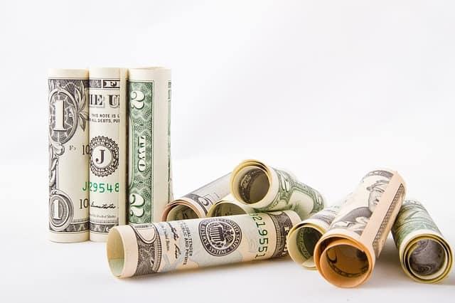 Pengar, dollarsedlar