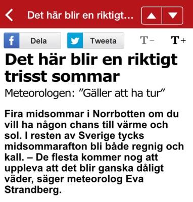 Aftonbladet nyheter från appen till iPhone - usla rubriker