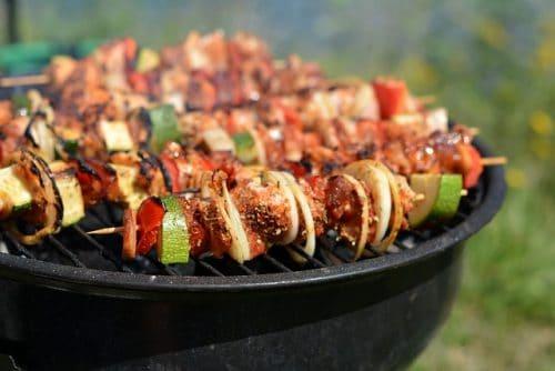 Grill med grillspett