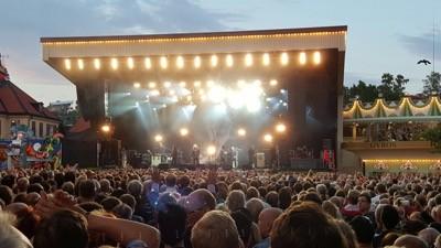 Led Zeppelins sångare Robert Plant på Gröna Lund juli 2015. Härlig helkväll!