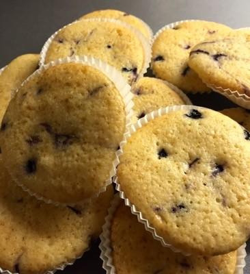 Muffins med vanilj och blåbär