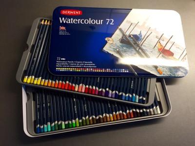 Akvarellpennor. Set med 72 pennor!